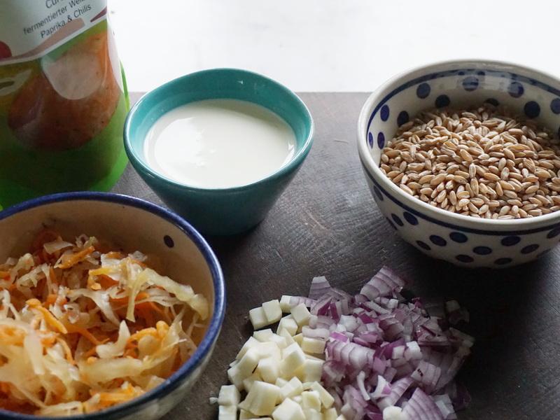 Getreiderisotto mit fermentiertem Curtido 1