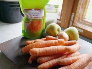Birnen - Möhrensuppe mit roher und fermentierter Karotte 2