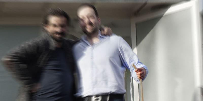Olaf Schnelle und Boris Grönemeyer an der Urmeersalz-Quelle