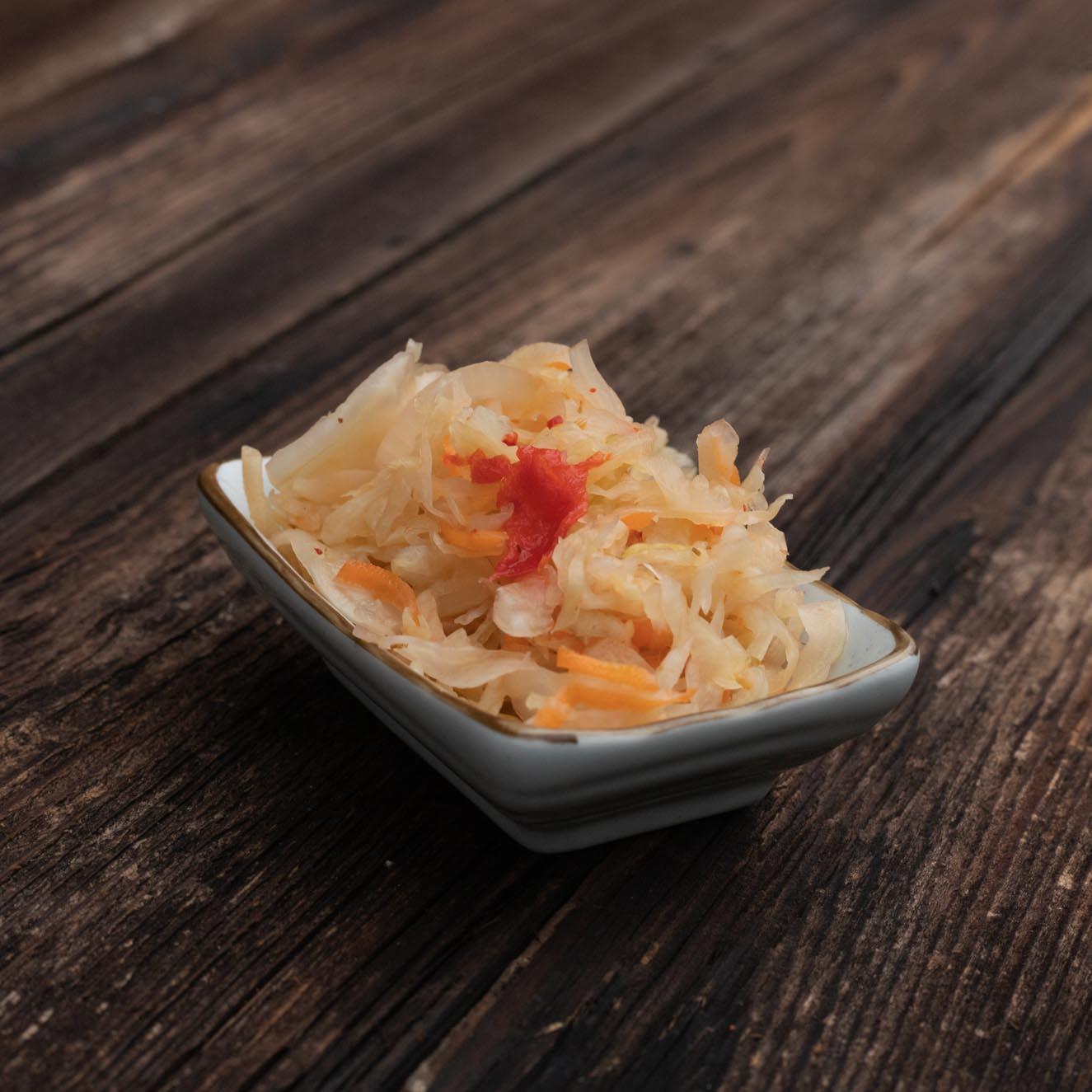 Fermentiertes Gemüse von Schnelles Grünzeug, hier Curtido Salat