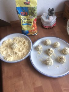 Falafel mit fermentiertem Kümmelkraut & fermentiertem Feuer 4