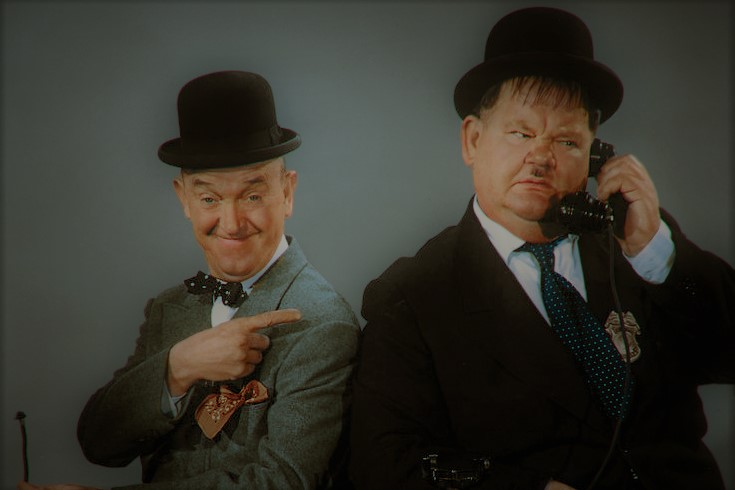 Laurel und Hardy in Kontakt