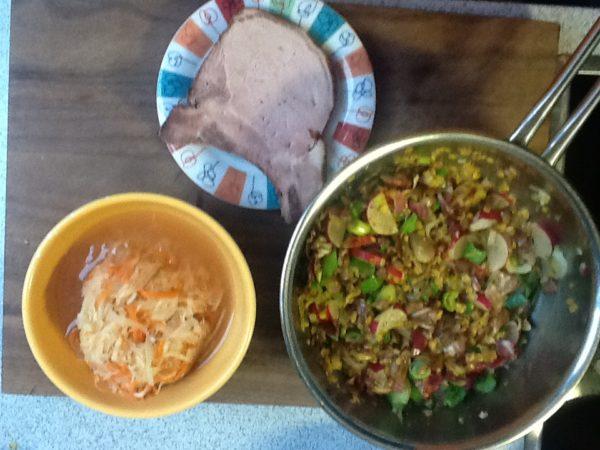 Lauwarmes Linsengemüse mit Coleslaw und Kassler 3