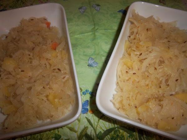 Apfel-Sauerkraut mit Kartoffelkruste 6