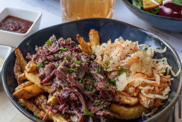 Ochsenbacke mit fermentiertem Coleslaw