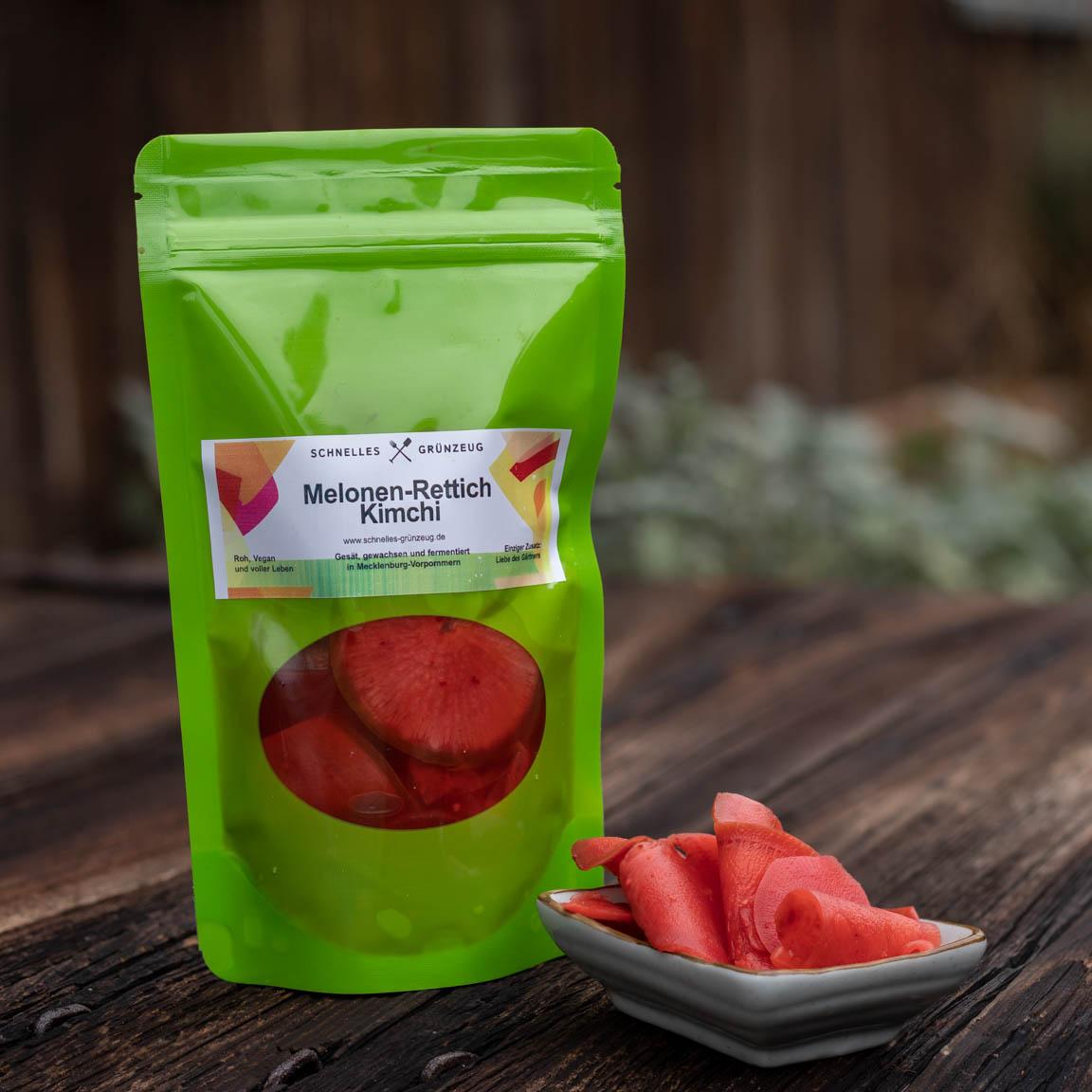 Fermentiertes Gemüse von Schnelles Grünzeug, hier fermentierter Melonen-Rettich