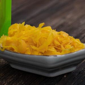 Fermentiertes Gemüse von Schnelles Grünzeug, hier fermentiertes Goldenes Sauerkraut